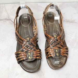 Frye Brown Huarache Sandals